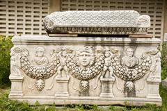 Ephesus ancient tombs - stock photo
