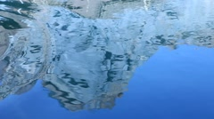 Hill reflection in the water Stock Footage