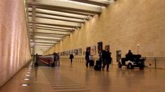 Passengers in Ben Gurion Airport. Tel Aviv Stock Footage
