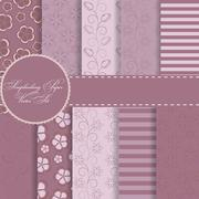 Set of Beautiful Vector Paper for Scrapbook - stock illustration