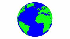Cartoon Earth 4k Stock Footage