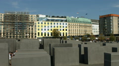 Holocaust memorial Berlin Stock Footage