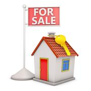 House and sale Stock Illustration