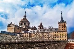 El Escorial Monastery back - stock photo