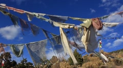 Prayer Flags No.2 Stock Footage