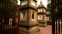 Walk Through of the Tran Quoc Pagoda in Hanoi Vietnam Stock Footage