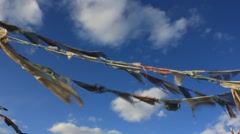 Prayer Flags No.5 Stock Footage
