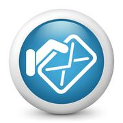 Mail icon concept - stock illustration