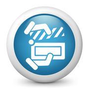 Clapboard concept icon - stock illustration