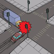 car versus truck - stock illustration