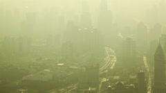 Shanghai pollution Stock Footage