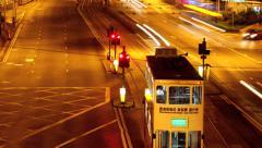Hongkong road cross timelapse Stock Footage