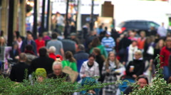 Crowd people in city in winter days Stock Footage