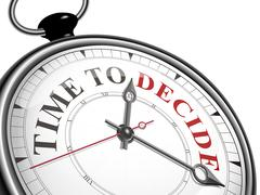 time to decide concept clock - stock illustration