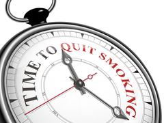 Stock Illustration of time to quit smoking concept clock