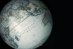 World globe - Indian ocean - stock photo