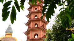 The Tran Quoc Pagoda in Hanoi Vietnam Stock Footage