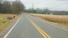 Driving plate: rear angle on rural road C 4K Stock Footage