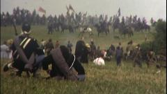 BIG FIGHT Battlefield American Civil War 1860 Vintage Film Home Movie 8025 Stock Footage