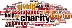 Charity word cloud Stock Illustration