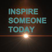 inspire someone today - stock illustration
