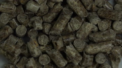 Close Up View of Wood Pellet Stock Footage