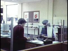Australian Bank, Interiors and Teller/Cashier Archival Footage Stock Footage