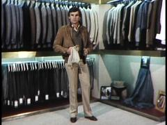 Model Demonstrates 1980's Fashions (archival footage) Stock Footage