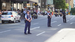 Police at G20 on duty watch 4K Stock Footage