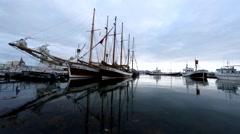 Húsavík Harbour Stock Footage
