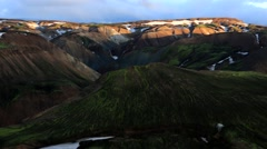 Landmannalaugar mountains timelapse Stock Footage