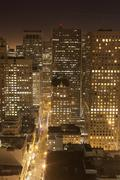 Aerial of san francisco by night Kuvituskuvat
