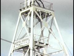 Central Deborah Gold Mine, Bendigo (Archival Footage) Stock Footage