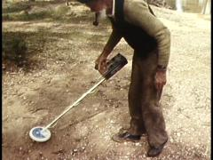 Old Man Gold Prospecting, In Goldfields - stock footage