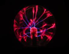 Electricity plasma ball - stock photo
