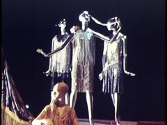 Various Mannequins Dressed in Fasions Of The Decades Stock Footage