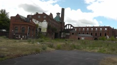 Derelict buildings of Springfield Brewery, Wolverhampton Stock Footage