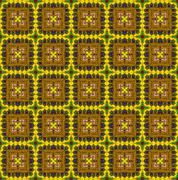 Stock Illustration of ethnic pattern in yellow tones
