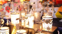 Candle carousel spinning slowly and rapidly Stock Footage