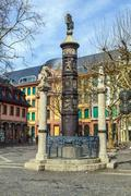 famous nagelsaeule in mainz to remember the dead of ww1 - stock photo