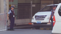 Putin G20 vehicle leaves Hilton security 4K Stock Footage