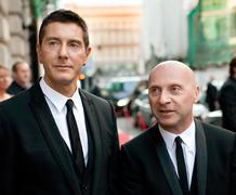 Moscow, russia - june 24: stefano gabbana (left) and domenico dolce (right) a Stock Photos
