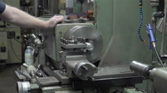 Machine lathe at work Stock Footage