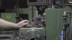 Machining slow motion 120fps Stock Footage