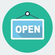 Vector open sign Stock Illustration