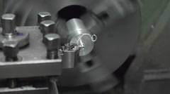 120fps slo mo machining Stock Footage