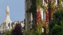 Sacre Coeur Monet Museum Paris, France, Montmartre 4K Stock Video Footage Stock Footage