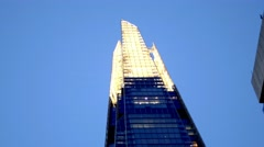 London Shard Building Dusk Static. - stock footage