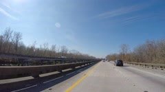 I10 louisiana highway 4k gopro Stock Footage