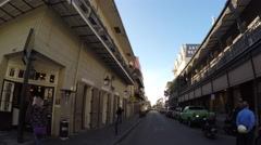 French Quarter new orleans drive through 4k Stock Footage
